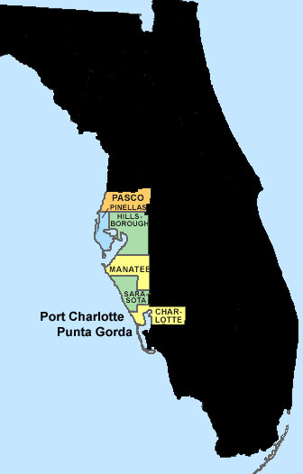 Cape Coral FL Homes For Sale Charlotte County Florida Waterfront - West coast florida map